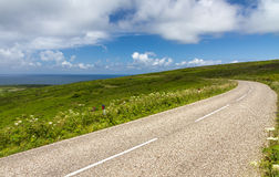 Winding road near Lands End / St. Ives, Cornwall Stock Images