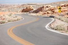 Winding Road Nevada Stock Photo