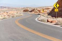 Winding Road Nevada Royalty Free Stock Photo