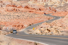Winding Road Nevada Royalty Free Stock Images