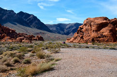 A winding road, Nevada Royalty Free Stock Photos