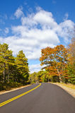 Winding autumn road Stock Photo