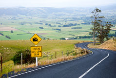 Winding road in New Zealand Stock Photo