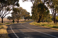 Winding Road north of Canberra, Australia royalty free stock photography