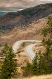 Winding Road in Okanagan Valley Royalty Free Stock Photo