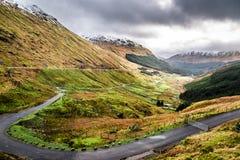 Winding road over a mountain canyon Royalty Free Stock Photos