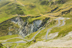 Winding Road in Pyrenees Mountains Royalty Free Stock Images