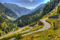 Winding Road in Pyrenees Mountains Royalty Free Stock Image