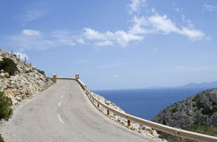 Winding road, raw Royalty Free Stock Photography