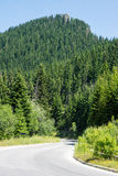 Winding road in the Rhodopes, Bulgaria Royalty Free Stock Photos