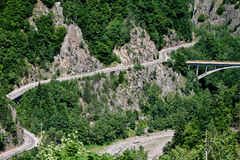 Winding road in Romania Royalty Free Stock Photography