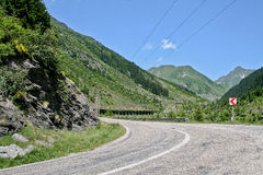 Winding road in Romania Royalty Free Stock Image