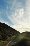 Winding Road, Santa Monica Mountains Royalty Free Stock Photo