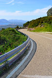 Winding road in the sardinian countryside. Italy Stock Image