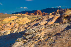 Winding road seen amid White Domes in Valley of Fire State Park, Nevada Royalty Free Stock Photography