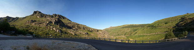 Winding road at Serra da Estrela near Manteigas, Portugal Royalty Free Stock Image