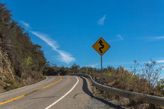 Winding Road Sign Stock Photography