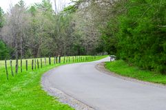 Winding Road in Smoky Mountains Tennessee Stock Image
