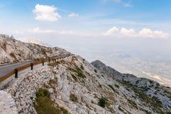 Winding road from sv Jure peak. Winding, narrow road from sv Jure peak in Biokovo mountains, Croatia Stock Images