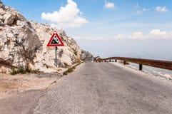 Winding road from sv Jure peak. Winding, narrow road from sv Jure peak in Biokovo mountains, Croatia Stock Photography