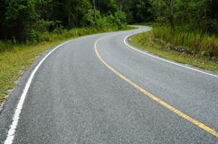 Winding Road in Thailand Stock Photos
