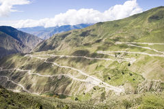 Winding road in Tibet Stock Images
