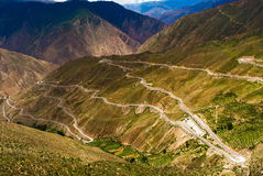 Winding road in Tibet Royalty Free Stock Image
