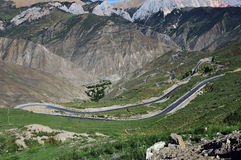 Winding road in Tibet Stock Photo