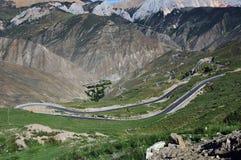 Winding road in Tibet Stock Photo