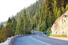Winding Road to Emerald Bay stock images