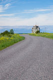 Winding road to ruins of former Pakri lighthouse Stock Images