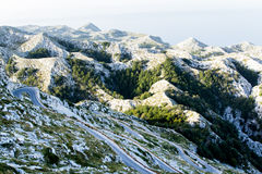 Winding road to sv. Jure peak in Biokovo mountains. Royalty Free Stock Photos
