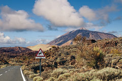 Winding Road to Teide Mountain, Tenerife Stock Images