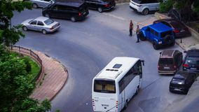 Winding Road Traffic stock video