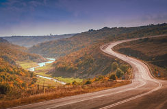 Winding road in Turkey Royalty Free Stock Images
