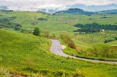Winding road in Tuscana, Italy Stock Image