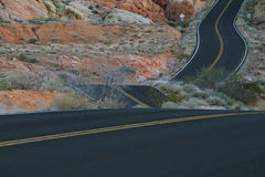 Winding road in Valley of Fire Royalty Free Stock Images