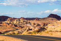 Winding road in Valley of Fire State Park, Nevada Royalty Free Stock Photos