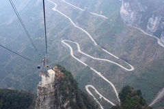 Winding roads. On the tianmenshan mountains in hunan province in china Stock Images