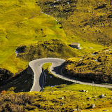 Winding roads Alps in natural landscape Stock Photos