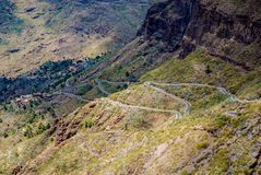 Curvy roads in Tenerife royalty free stock photos