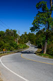 Winding roads of northern Thailand. Royalty Free Stock Photos