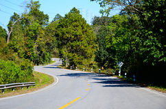 Winding roads of northern Thailand. Stock Photography