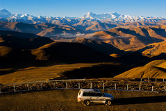 Winding Roads to Himalayas Royalty Free Stock Images