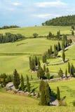 Winding roads of Tuscany. Winding road near Monticchiello in Tuscany Italy Royalty Free Stock Photos