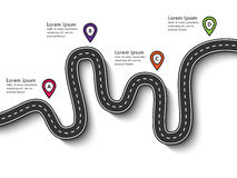Winding roads on a white background vector illustration