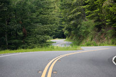 Winding roadway. Super tight curves on winding roadway Royalty Free Stock Image