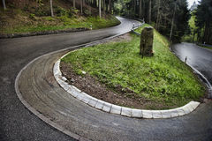Winding roadway in Baden, Germany. Royalty Free Stock Photos