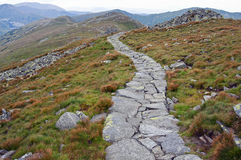 Winding rock trail path Royalty Free Stock Photography