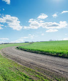 Winding rural road Stock Photography